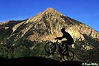 Mt. Crested Butte with mountain biker