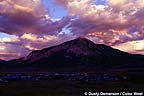 Summer sunset over Mt. Crested Butte