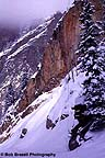 Cliff faces in winter weather