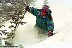 A local skier samples fresh powder