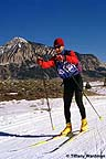 Nordic skiing with Mt. Crested Butte in the background