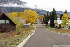 Ring of fog around Mt. Crested Butte is seen down Maroon Avenue in the Fall.