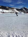 Ice skating in Crested Butte South.