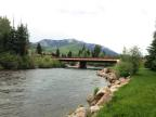 East River community bridge in Crested Butte South neighborhood.