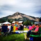 A great backdrop to Alpenglow in Crested Butte! Check out this free summertime concert series at the Center for the Arts outdoor stage!