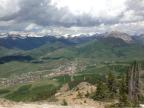 Hiking up Mt. Crested Butte off Silver Queen Lift.